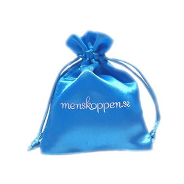 Menskoppen.se egen påse för menskopp turkos