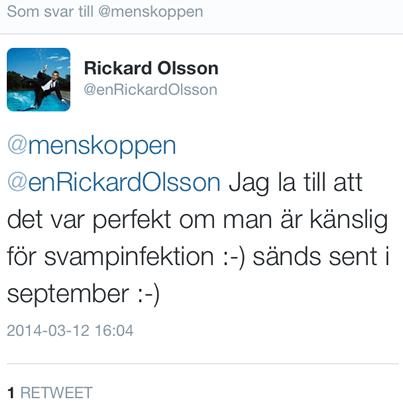 Rickard Olsson om menskopp i Vem vet mest? i SVT