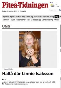 Riv ur Piteå-Tidningen om användande av menskoppar