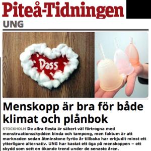 Menskopp artikel i Piteå-Tidningen
