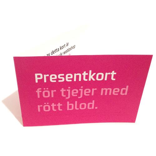 Presentkort på papper från menskoppen.se