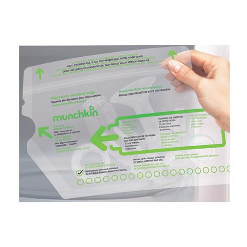 Menskopp sterilisering påse i mikro - 20 gånger