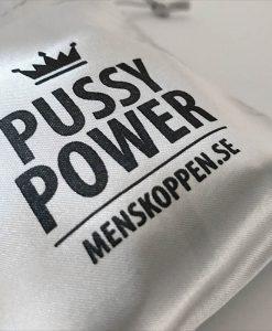 Påse Pussy Power menskoppen.se - Silverfärgad